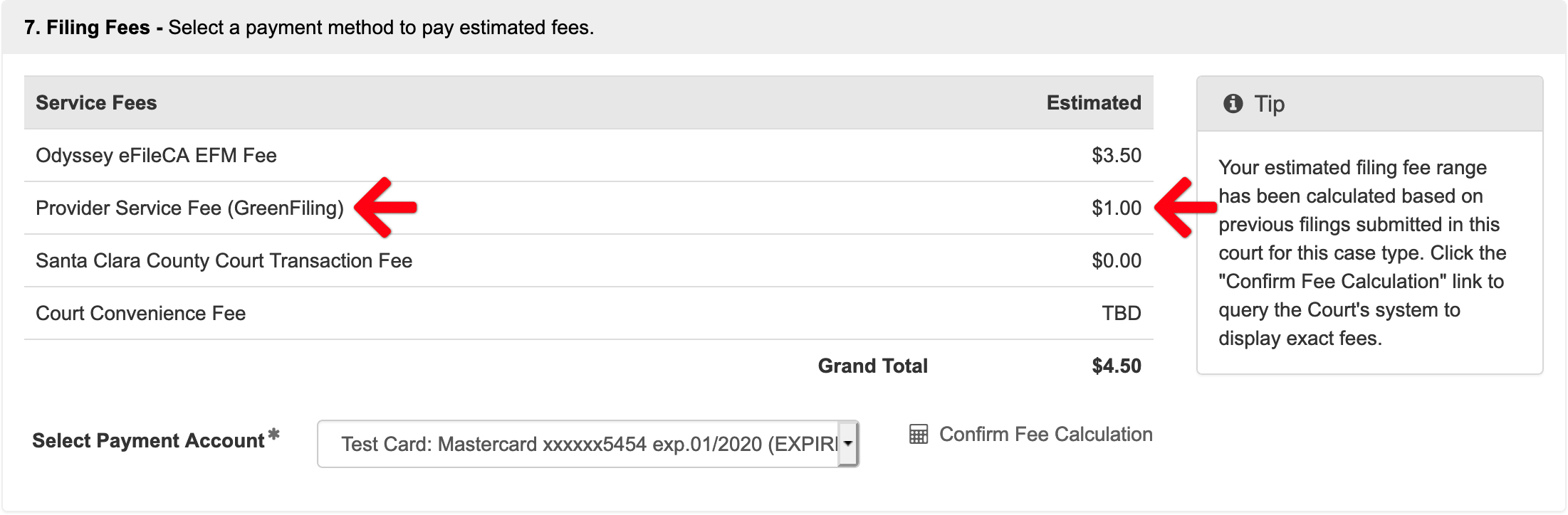 fees collected upon acceptance