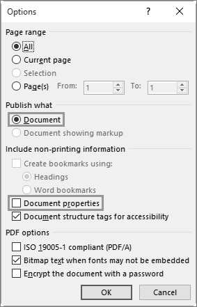 Convert a Word document into a text-searchable PDF