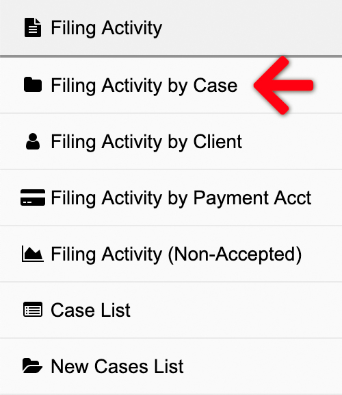 Filing Activity by Case