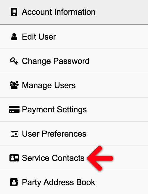 Service Contacts
