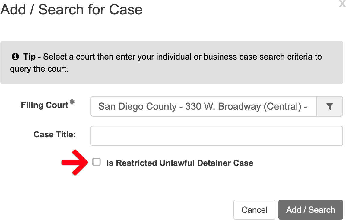 Is Restricted Unlawful Detainer Case