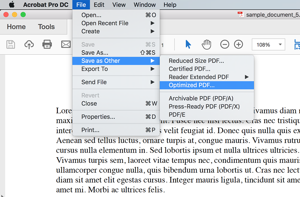 Compress reduce a pdf when documents exceed the file size limit under the file tab select save as other and then optimized pdf stopboris Images